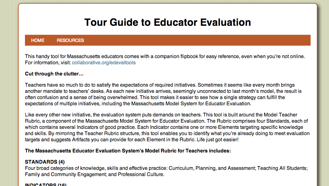 Ed Eval Tour Guide