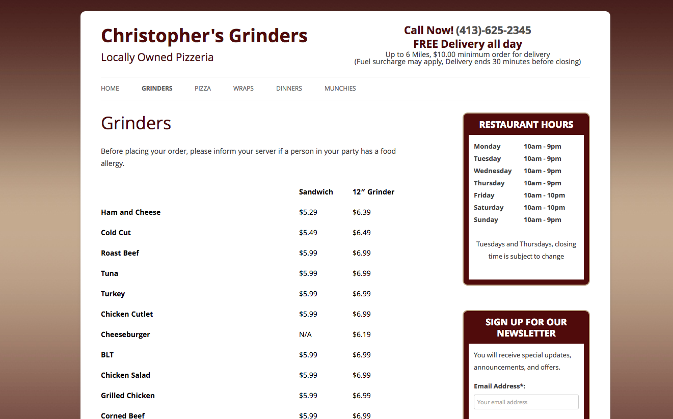 Christophers Grinders